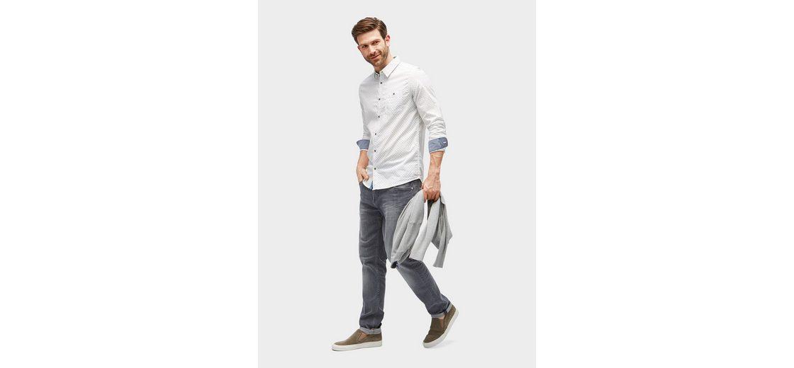 Tom Tailor Hemd gemustertes Hemd mit Brusttasche 2018 Auslaß Rabatt Bester Verkauf Bestes Geschäft Zu Bekommen Footlocker Abbildungen Günstigen Preis kcqMpmL5k