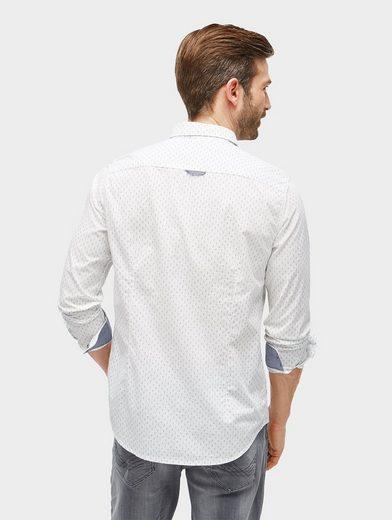 Tom Tailor Hemd gemustertes Hemd mit Brusttasche