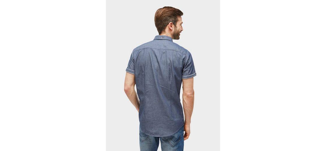 Tom Tailor Kurzarmhemd gemustertes Hemd mit Brusttasche Empfehlen Rabatt 84KtX