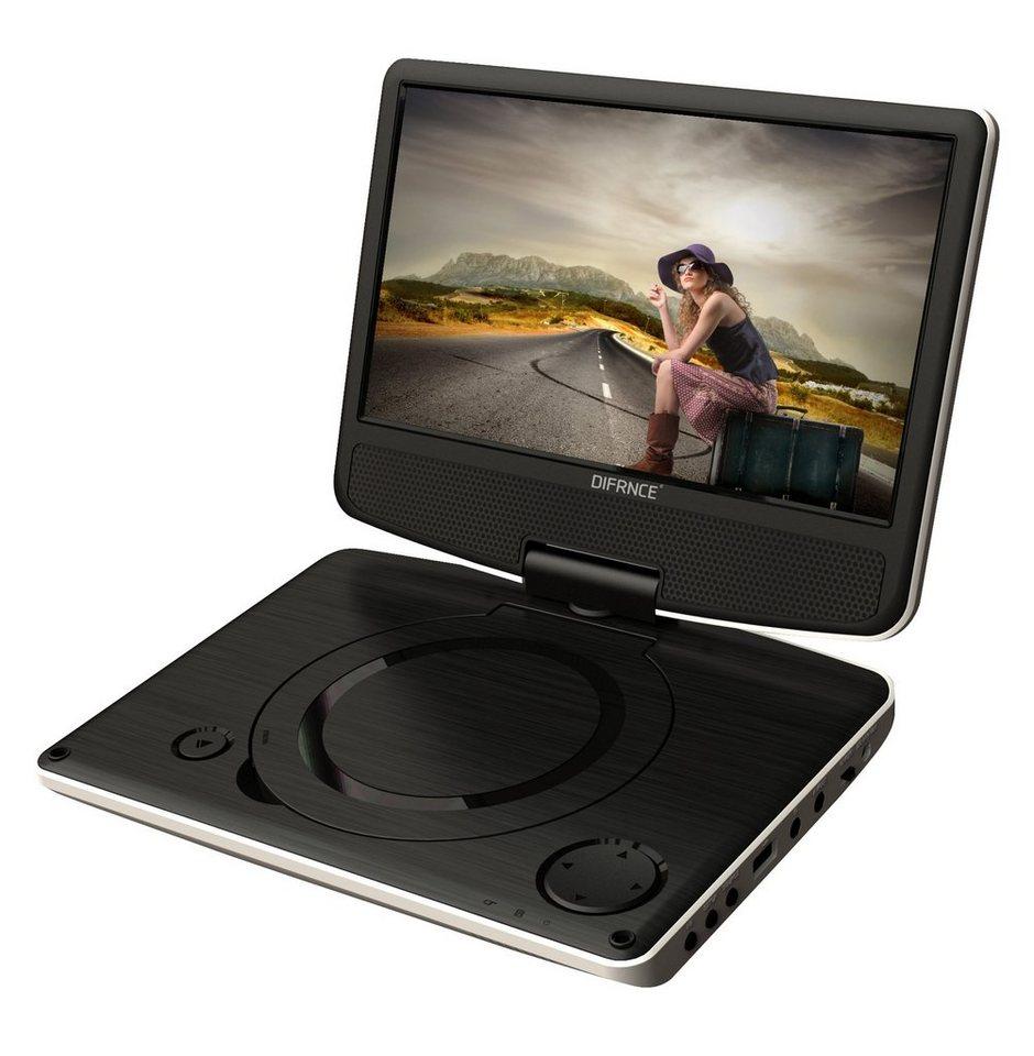 difrnce tragbarer 9 dvd player usb klappbar pdvd9011. Black Bedroom Furniture Sets. Home Design Ideas