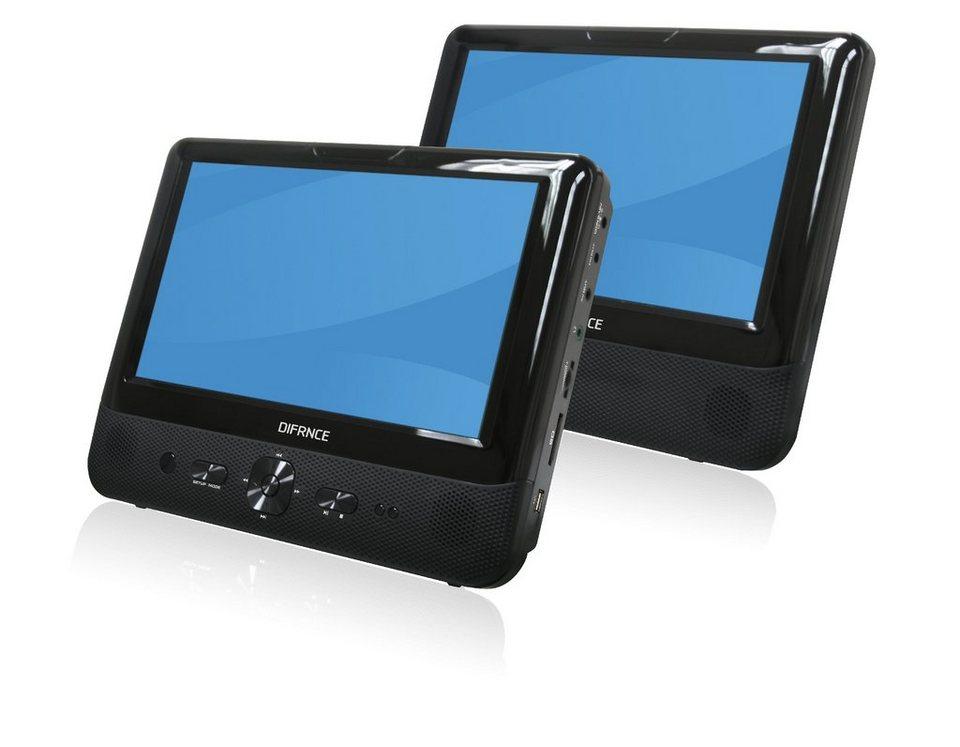 difrnce set tragbarer 9 dvd player mit zusatzdisplay. Black Bedroom Furniture Sets. Home Design Ideas