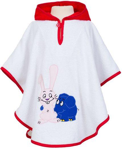 Smithy Bademantel zum Überziehen für Kinder »Badeponcho Der kleine blaue Elefant«