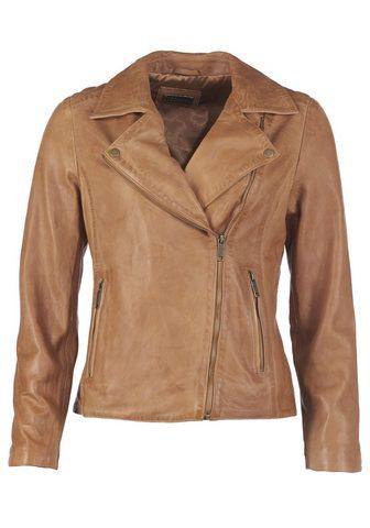 Куртка кожаная в Байкер-стиль стиль &r...
