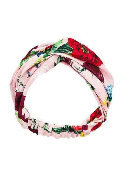 HALLHUBER Geknotetes Haarband mit Blütendruck