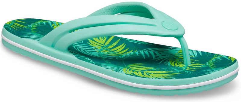 Crocs »Crocband Tropical Flip W« Zehentrenner mit Palmen-Print
