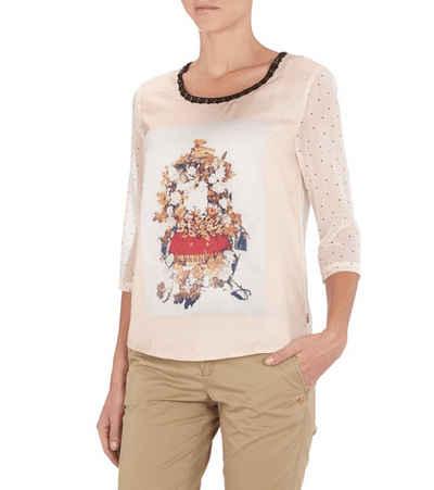 Scotch & Soda Shirtbluse »SCOTCH & SODA x MAISON SCOTCH Blusen-Shirt modisches Damen 3/4-Arm-Shirt mit Muster Lifestyle-Shirt Rosa«