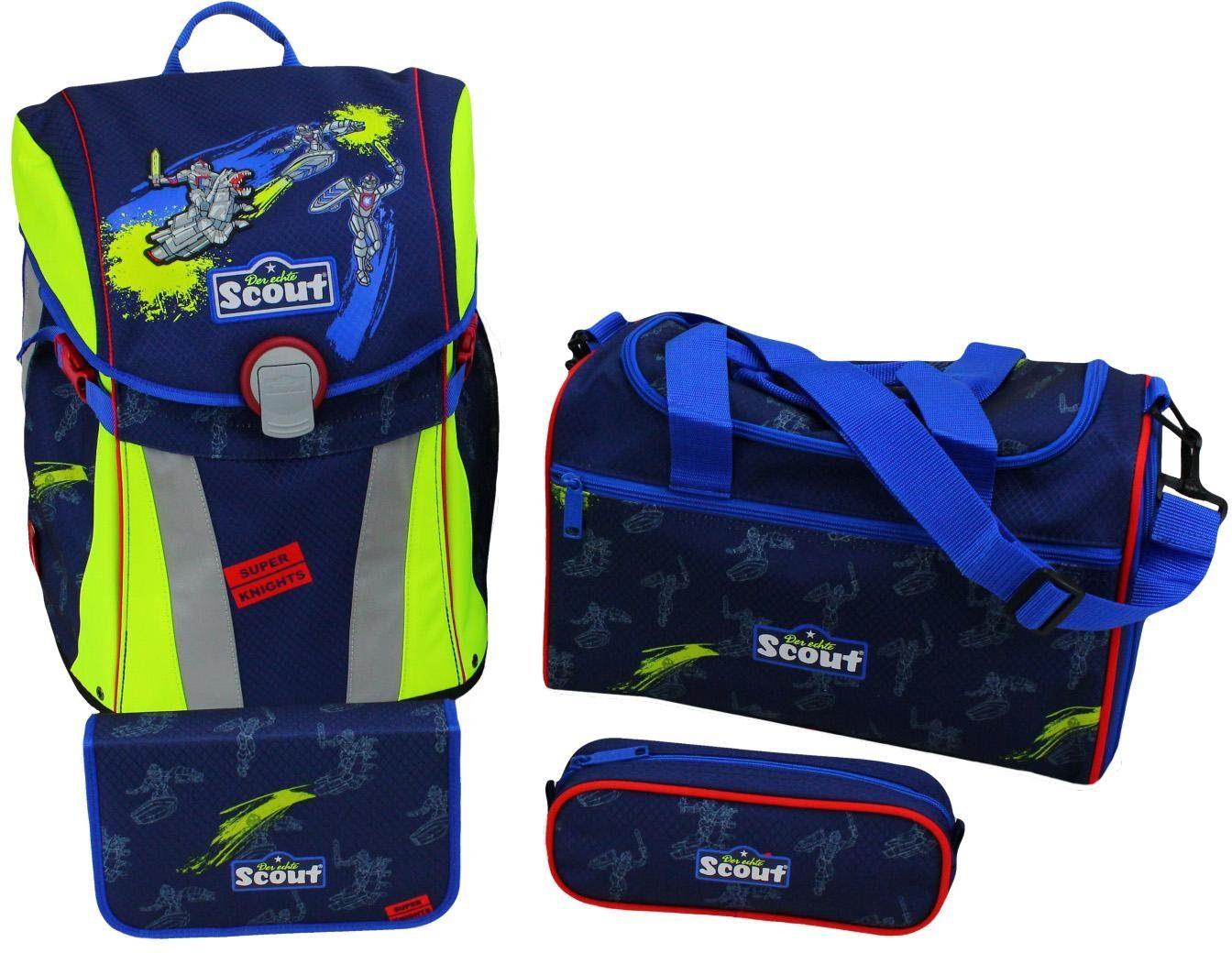 Scout Schulrucksack Set (4-tlg.), »Sunny, Super Knights«
