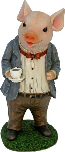 Home affaire Tierfigur »Schwein im Anzug trinkt Kaffee«