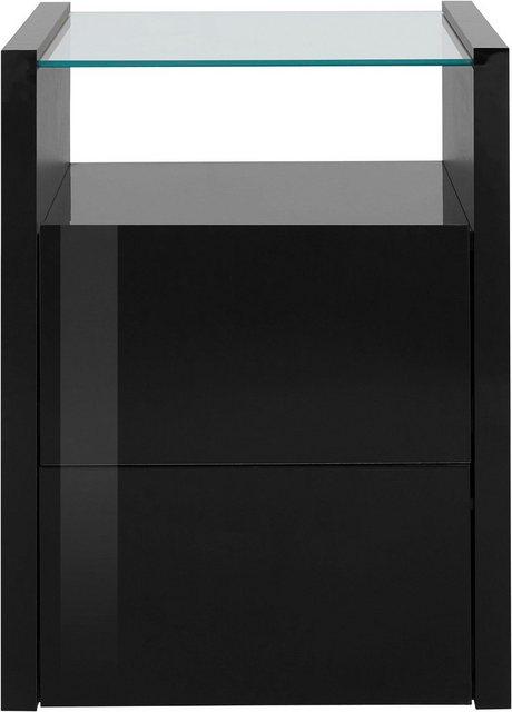Tecnos Nachtkonsole, Höhe 56, 8 cm   Schlafzimmer > Nachttische   Schwarz   Tecnos