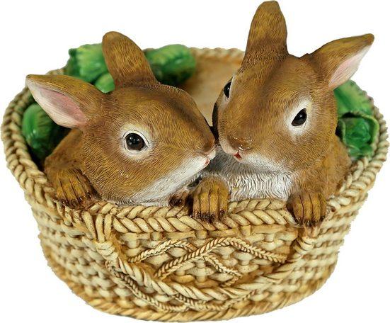 Home affaire Tierfigur »Zwei Hasen im Korb«, Breite 20,5 cm