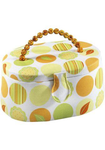 HOME AFFAIRE Krepšys siūvimo reikmėms oval Textil i...