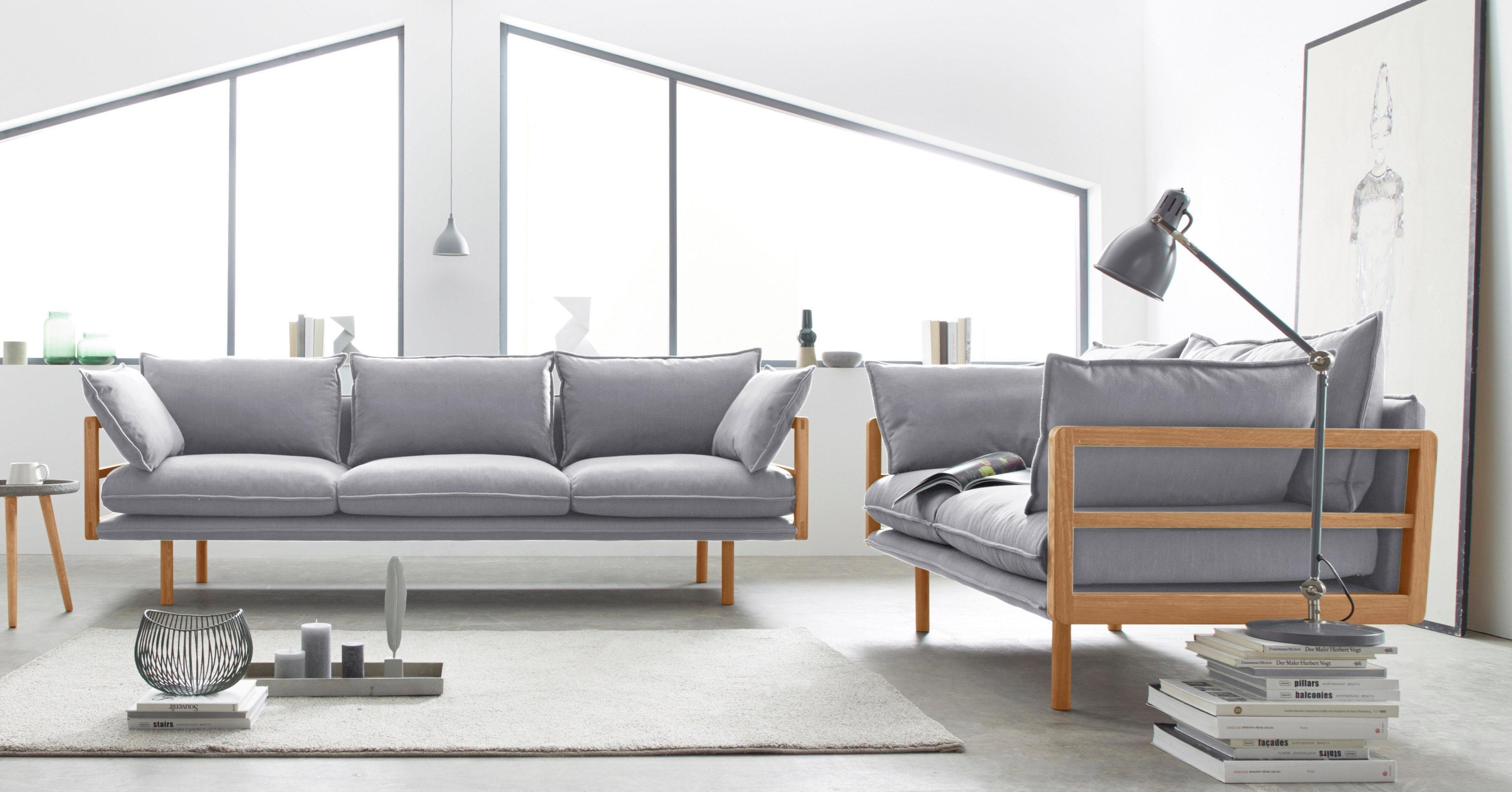 Andas »Purple« 2  Und 3 Sitzer Im Set Mit Eichen Gestell In  Außergewöhnlichem Design