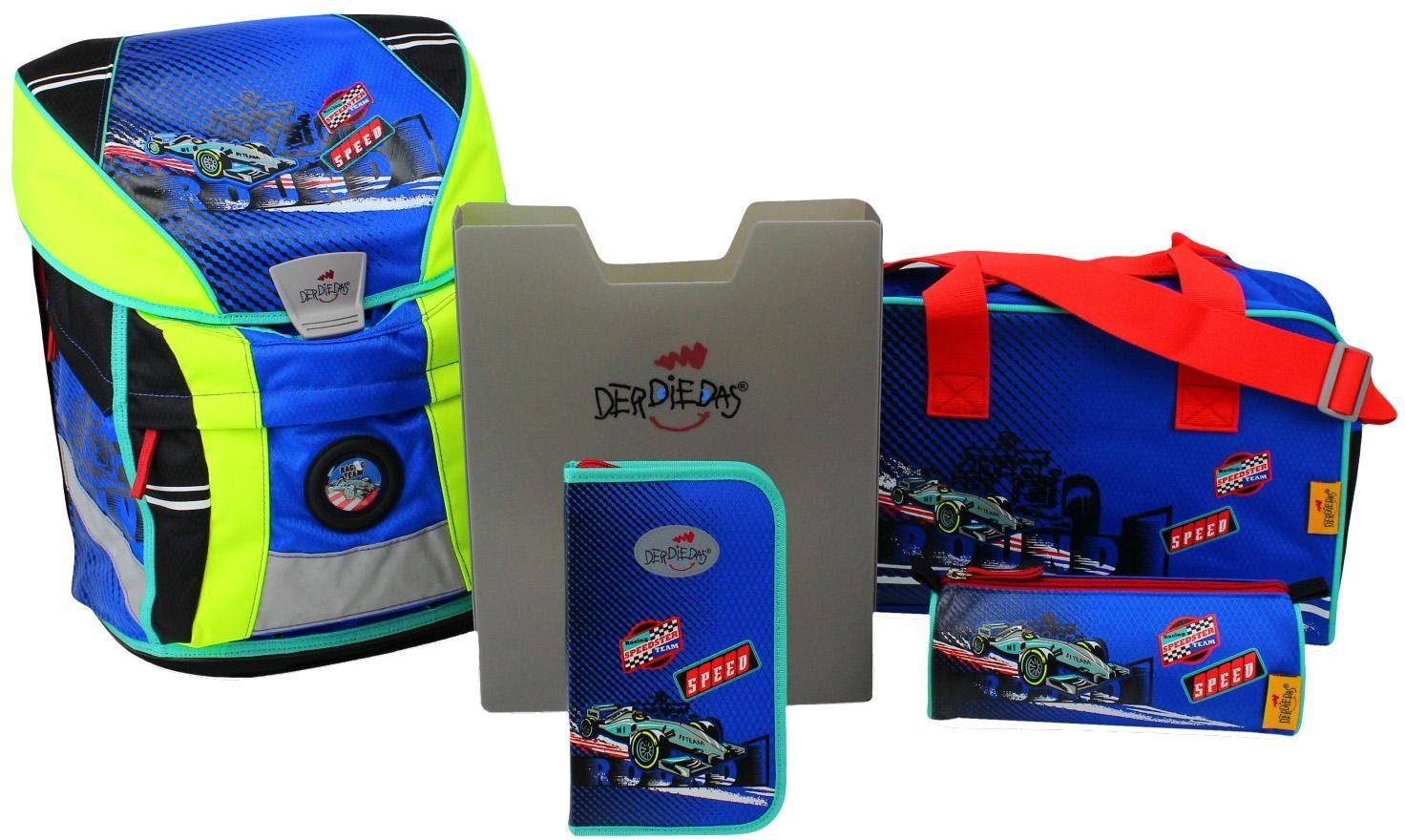 DerDieDas Schulrucksack Set (5-tlg.), »ErgoFlex Vario - Racing Team«