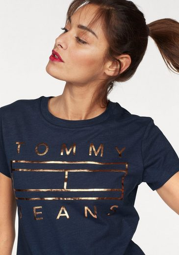 Tommy Jeans T-Shirt TJW CLEAN TOMMY FLAG LOGO TEE