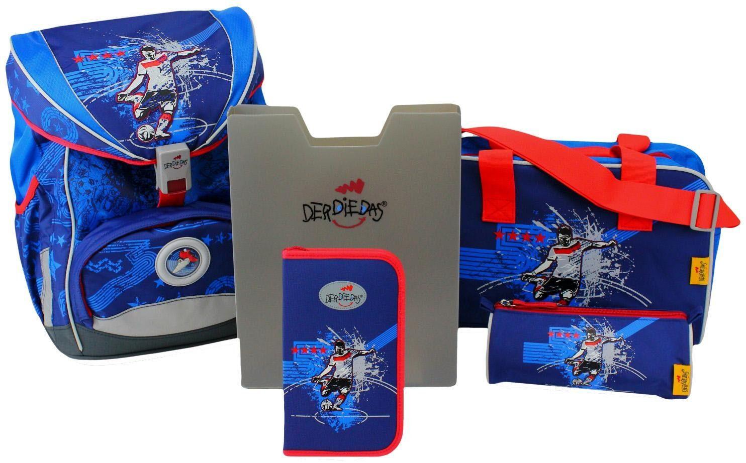 DerDieDas Schulrucksack Set (5-tlg.), »ErgoFlex - Star Kicker«