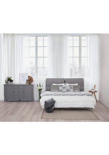 Places of Style Boxspringbett Kiss in 2 Härtegraden, 2 Topper-Ausführungen, auch in 200/220 cm grau  