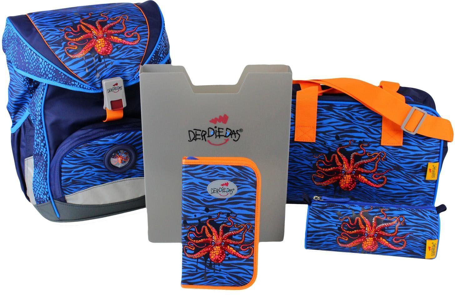 DerDieDas Schulrucksack Set (5-tlg.), »ErgoFlex - Deep Sea«