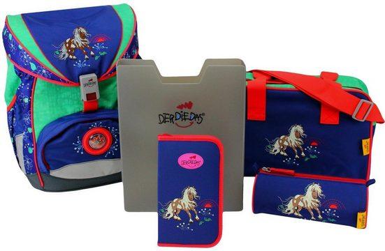 DerDieDas® Schulrucksack »ErgoFlex - Happy Pony« (Set)