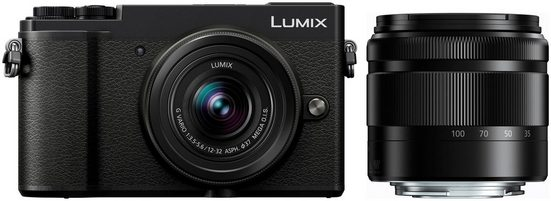 Panasonic »DC-GX9WEG-K« Systemkamera (LUMIX Telezoom 35-100mm, Lumix G Vario 12-32mm, 20,3 MP, 4x opt. Zoom, Bluetooth, WLAN (Wi-Fi), Videoaufnahmen in 4K 2160p)