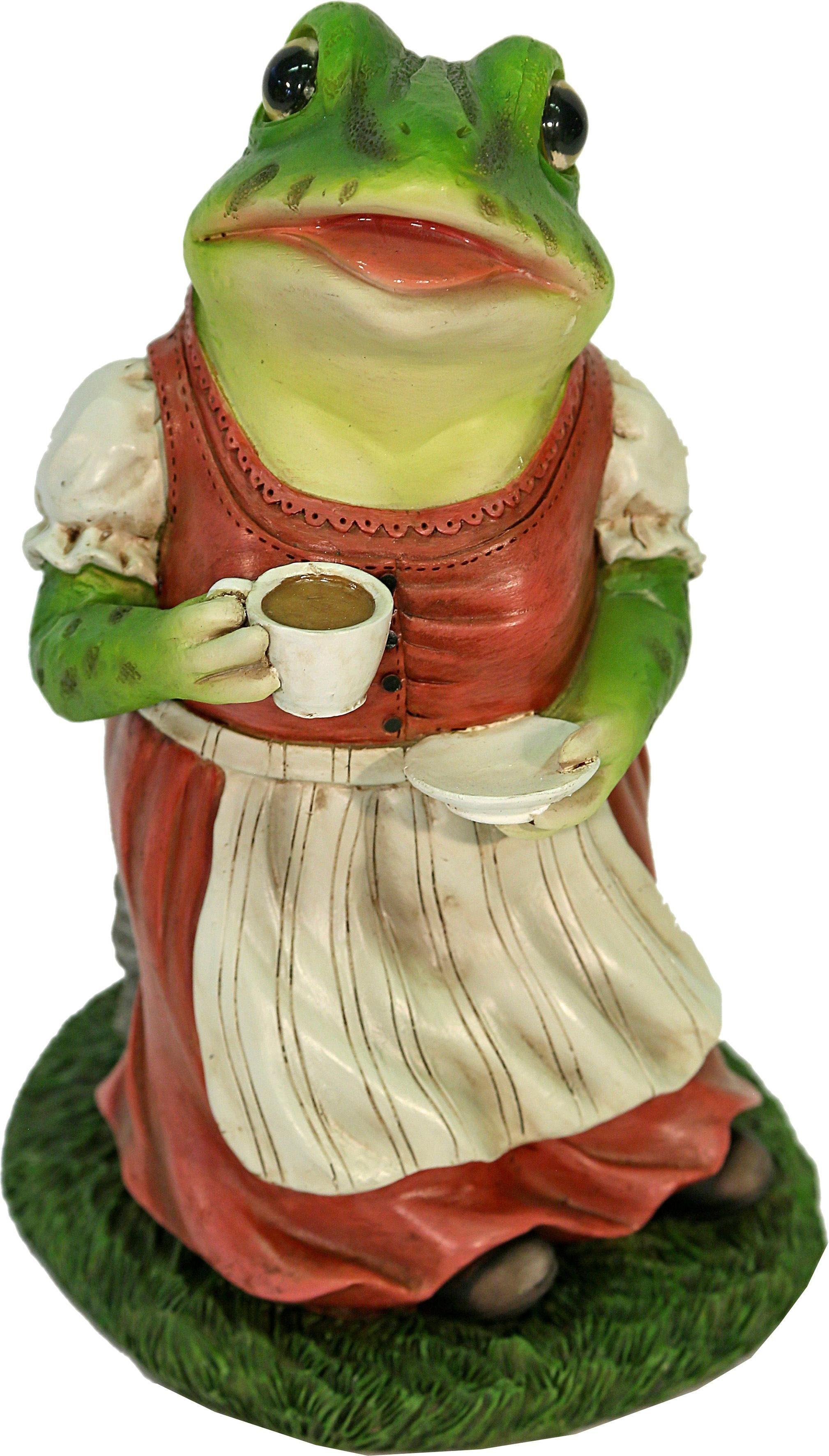Home affaire Dekofigur »Frau Frosch im Kleid trinkt Kaffee«