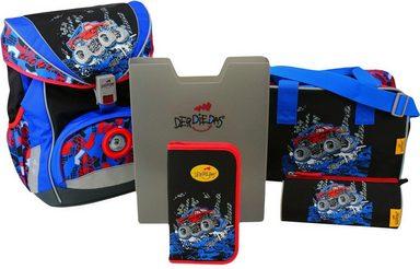 DerDieDas Schulrucksack Set (5-tlg.), »ErgoFlex - Big Truck«