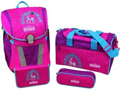 Scout Schulrucksack Set (4-tlg.), »Sunny, Lilac Unicorn«