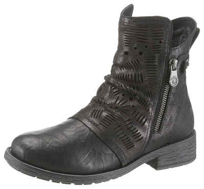 2d3dec8c4e842a Remonte Stiefelette in Metallic Optik