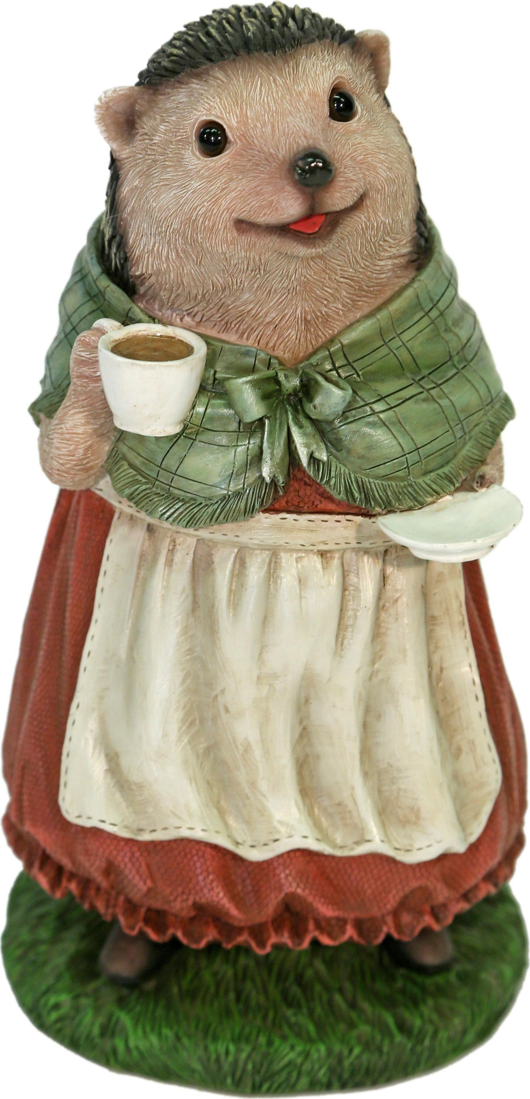 Home affaire Dekofigur »Frau Igel im Kleid trinkt Kaffee«