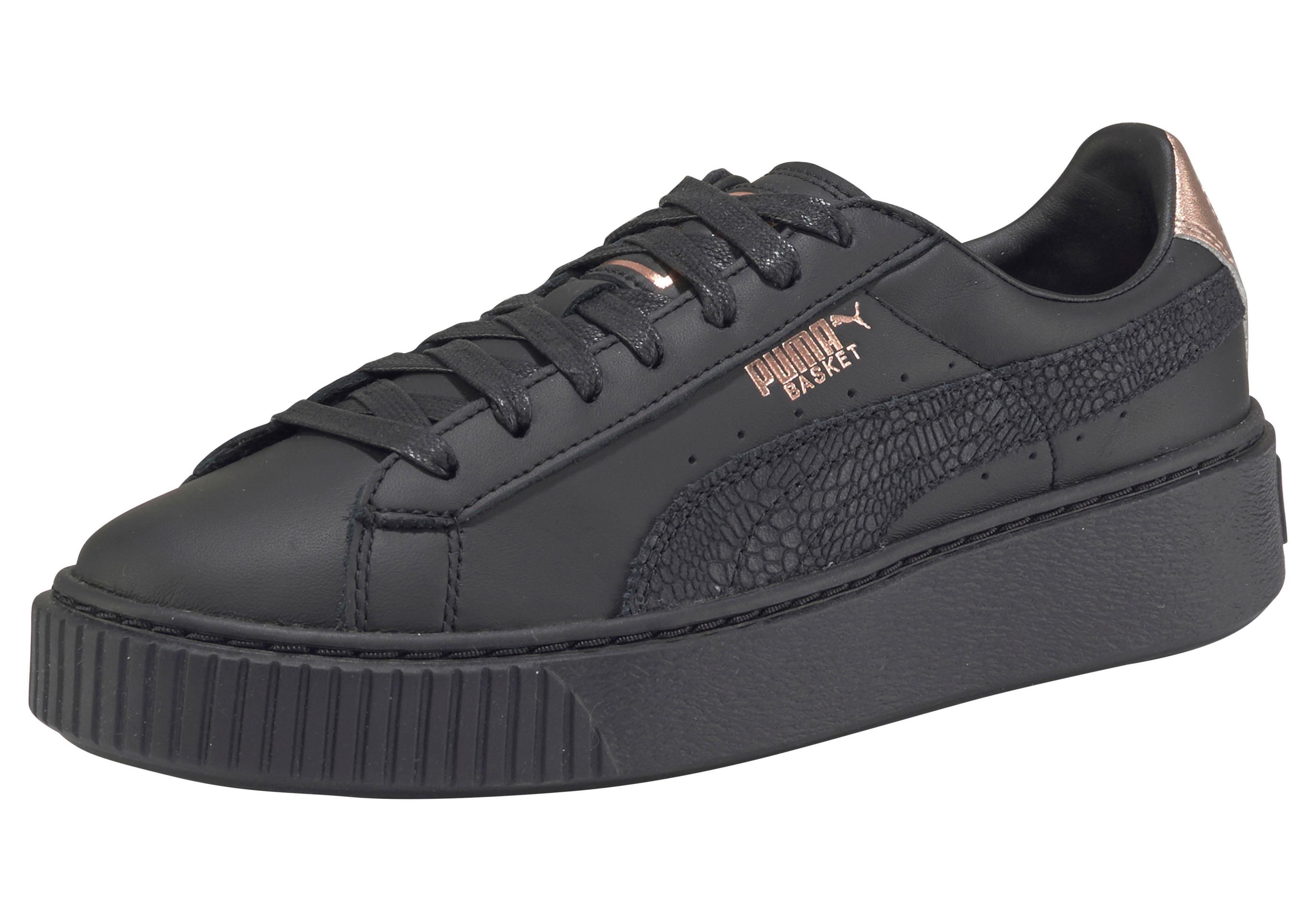 PUMA Basket Platform Eu Sneaker online kaufen  schwarz-kupfer