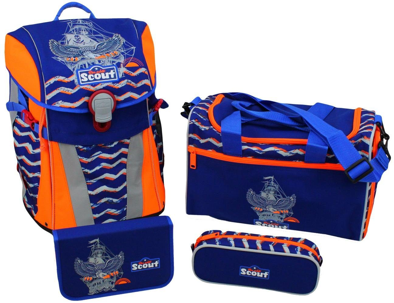 Scout Schulrucksack Set (4-tlg.), »Sunny, Wings«
