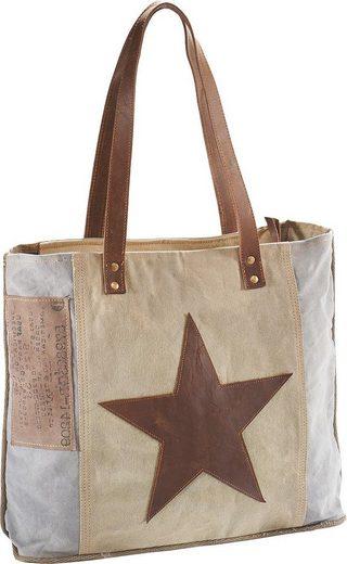 Und Canvas Affaire Vintage Lederhenkel Brown Leder Home Aus Tasche Mit Star wpXxqdZI