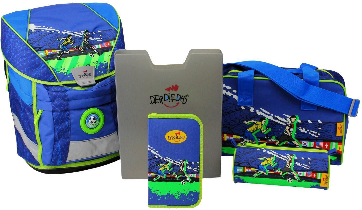 DerDieDas Schulrucksack Set (5-tlg.), »ErgoFlex Vario - Champions«
