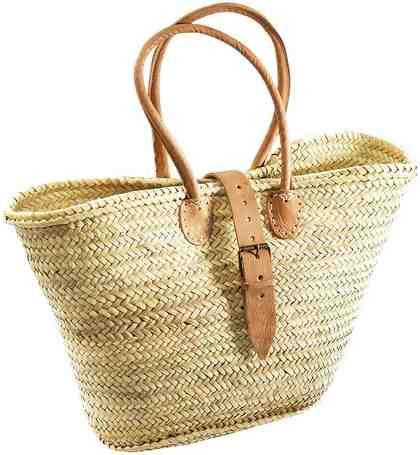 Home affaire Ibiza-Tasche aus Palmblatt mit Lederhenkeln und Lederverschluss