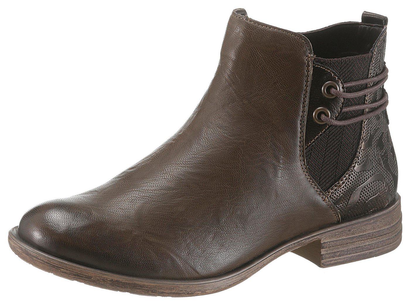 Remonte Chelseaboots mit Prägung | Schuhe > Boots > Chelsea-Boots | Grün | Leder | Remonte