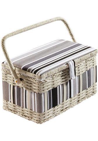 HOME AFFAIRE Krepšys siuvimo reikmėms eckigweißes G...