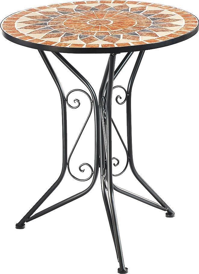Home affaire Gartentisch mit Mosaik aus Metall