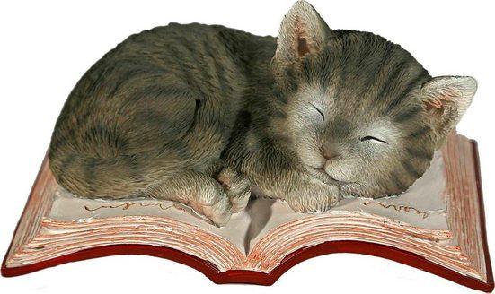Home affaire Tierfigur »Katze schlafend auf Buch«