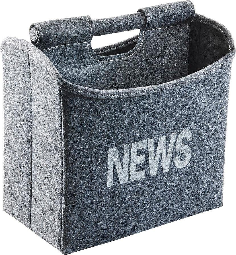 Home affaire Zeitungsständer faltbar aus grauem Filz