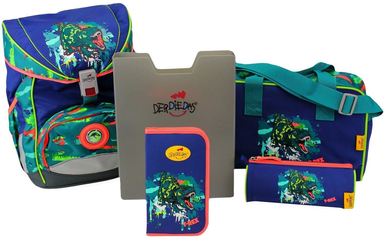 DerDieDas Schulrucksack Set (5-tlg.), »ErgoFlex - T-Rex«