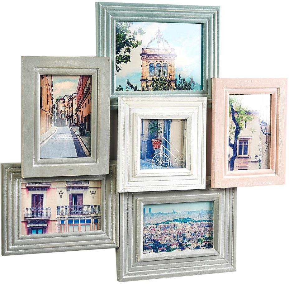 Home affaire Bilderrahmen, Bilderhalter Collage Pastell für 6 Bilder ...