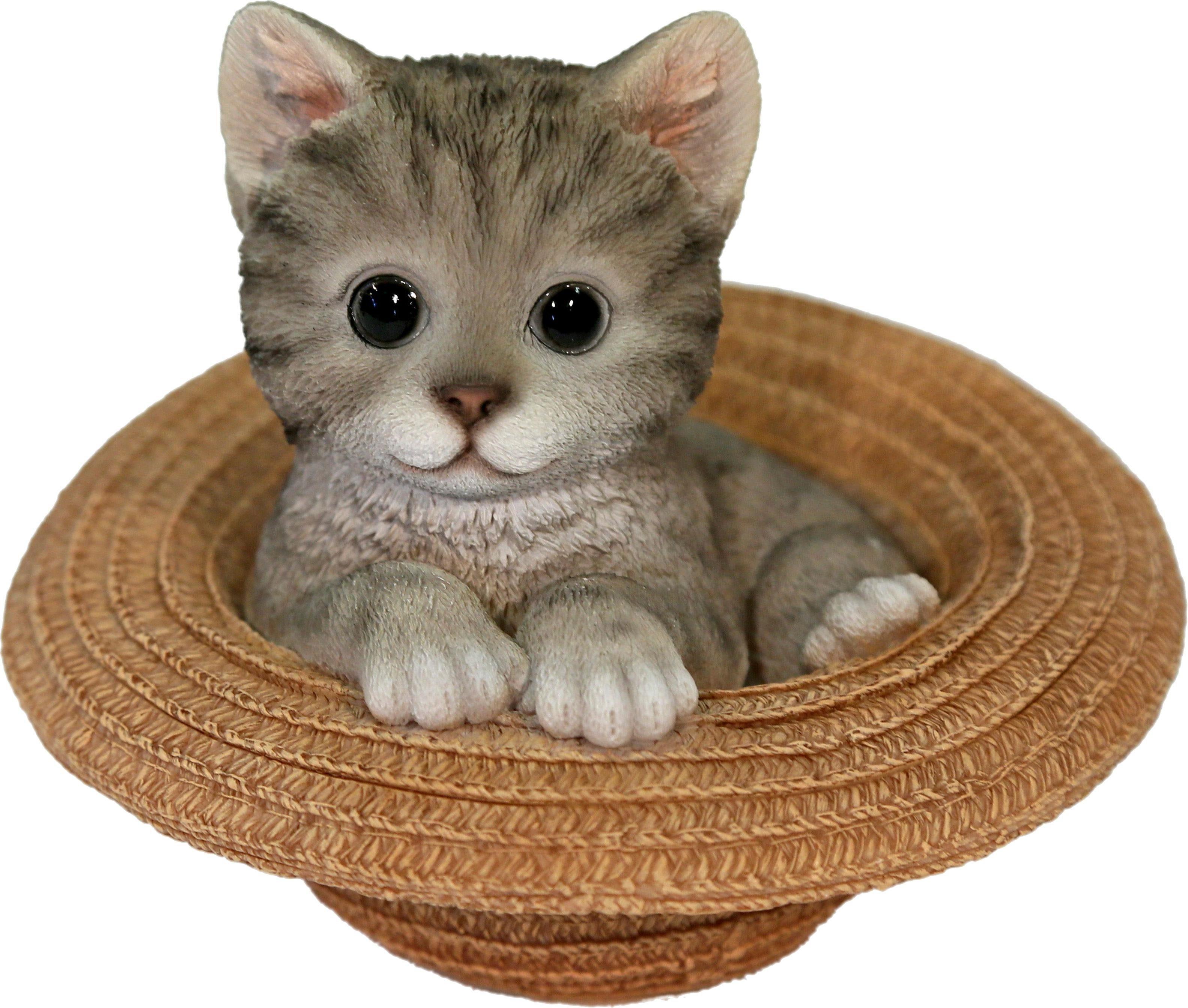 Home affaire Dekofigur »Katze grau im Hut«, Höhe 15 cm