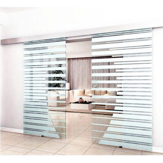 HOME DELUXE Doppel-Glasschiebetür , BxH: je 90x205 cm, mit Muschelgriff