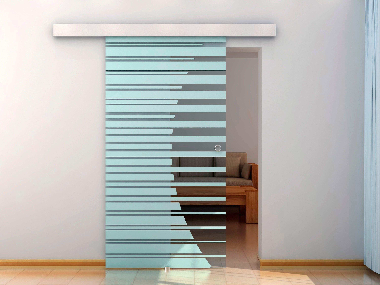 HOME DELUXE Glasschiebetür , BxH: 90x205 cm, mit Muschelgriff