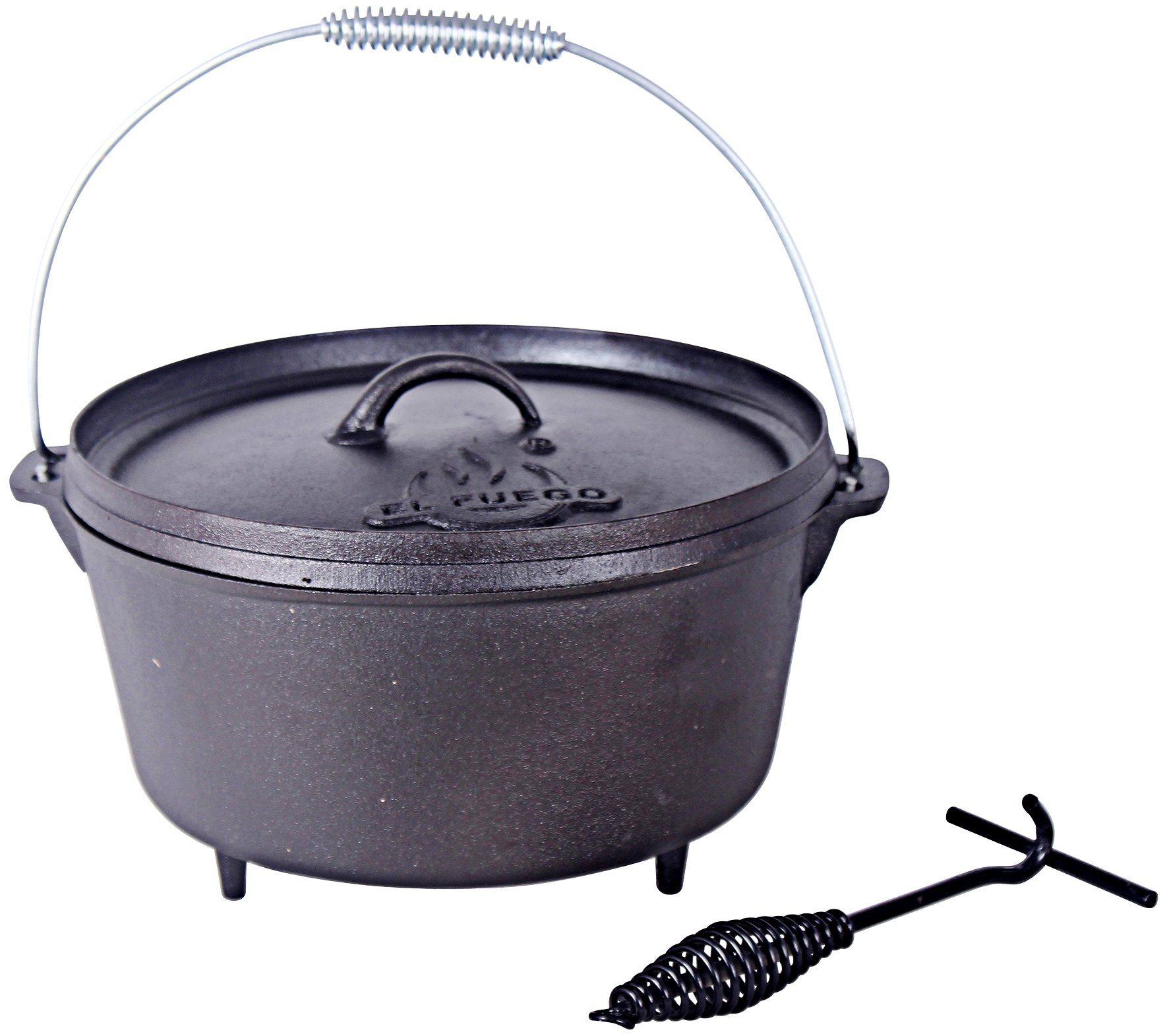 EL FUEGO Feuertopf »Dutch Oven AY 461«, 4,26 Liter | Garten > Grill und Zubehör > Grillzubehör | El Fuego