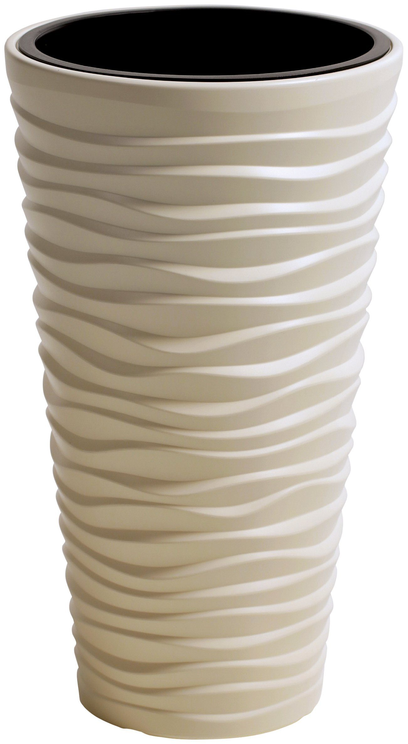 PROSPERPLAST Blumentopf »Sand slim«, creme, Ø 29,6