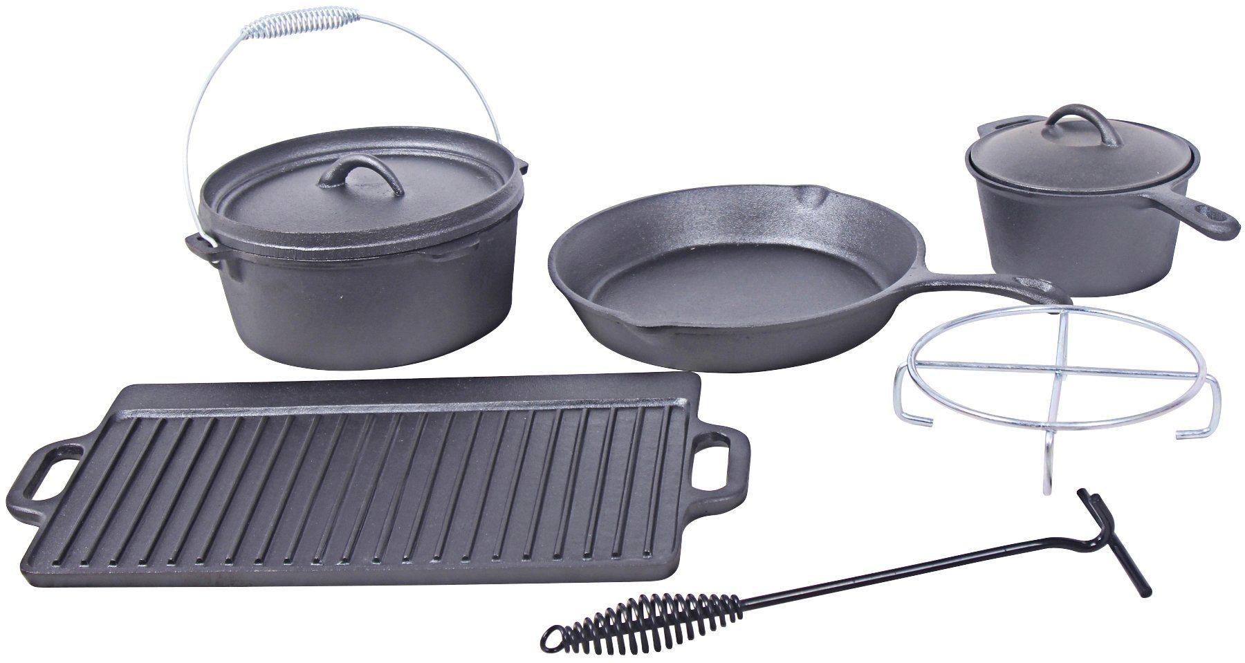 EL FUEGO Feuertopf-Set »Dutch Oven AY 466«, 7-tlg. | Garten > Grill und Zubehör > Grillzubehör | El Fuego