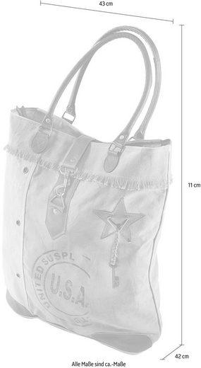 Tasche Lederhenkel Leder Und Canvas Affaire Home Vintage Usa Mit Aus zOAEEq