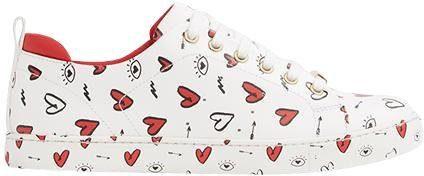 ALDO Merane Sneaker, mit verspieltem Print  weiß-rot