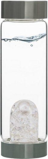 VitaJuwel Wasserkaraffe »Edelsteinflasche ViA Diamonds«, (Diamantsplitter - Bergkristall)