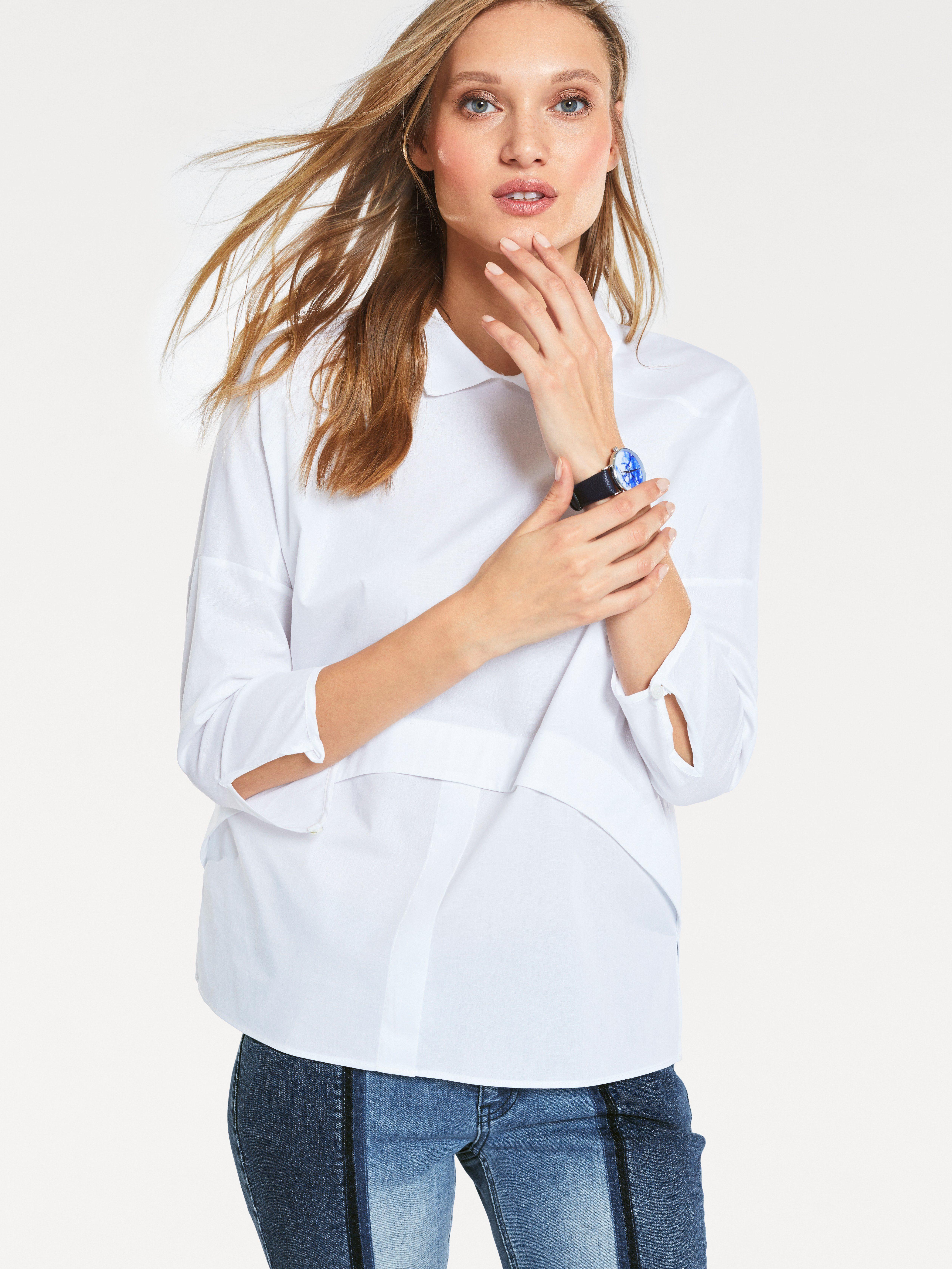 heine CASUAL Bluse mit Seitenschlitzen